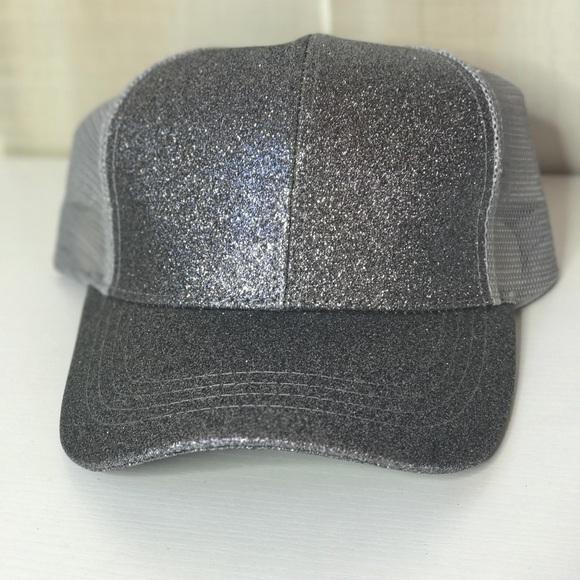 cdfe2077b33 CC Beanie Glitter Ball Cap High Ponytail